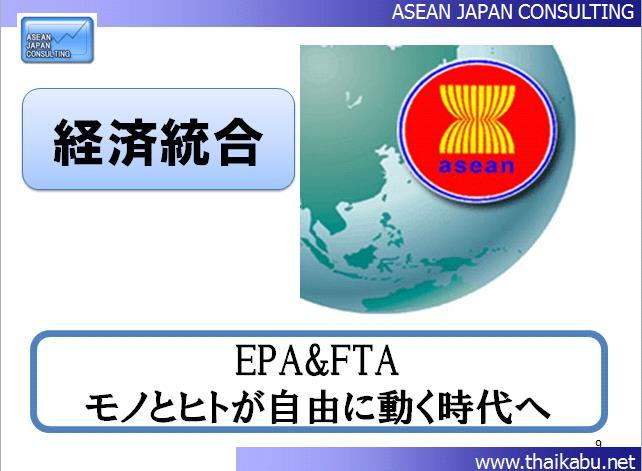 2015年から始まるとされるアセアン経済共同体とタイの大手企業